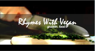 Rhymeswithvegan logo