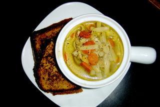 No-chik'n noodle soup