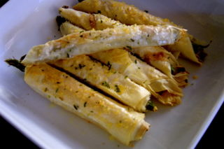 Fillo Wrapped Asparagus