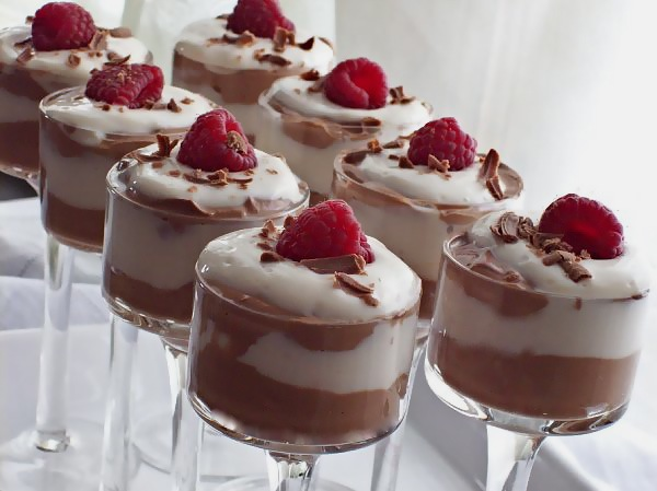 chocolate truffle mousse w/ whipped vanilla topping - Rhymes With ...