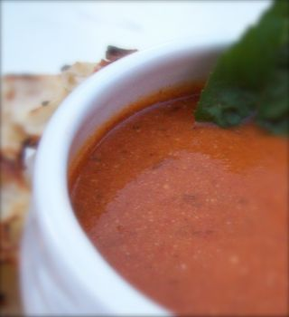 Creamy tomato basil soup 2