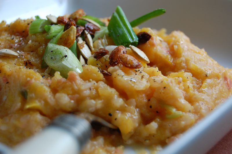 Butternut Squash And Scallion Risotto Recipe — Dishmaps
